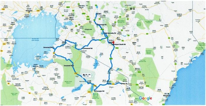 路線圖-東非坦尚尼亞_肯亞單車野營隊001