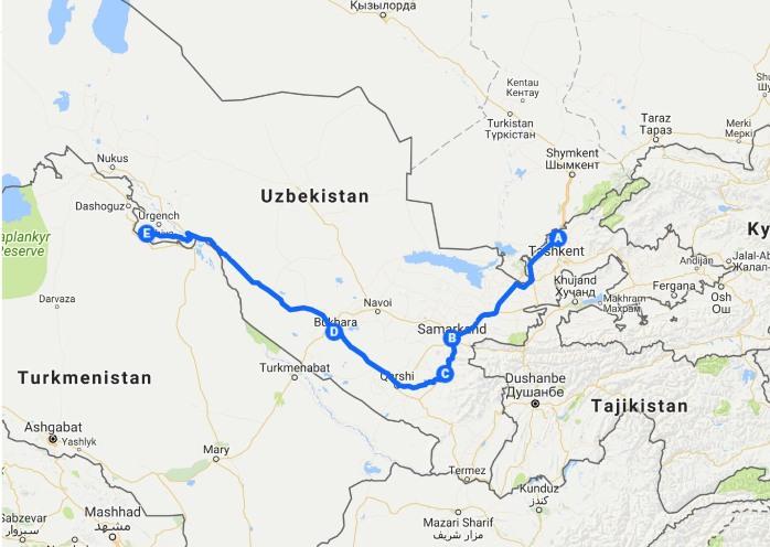路線圖-2018烏茲別克