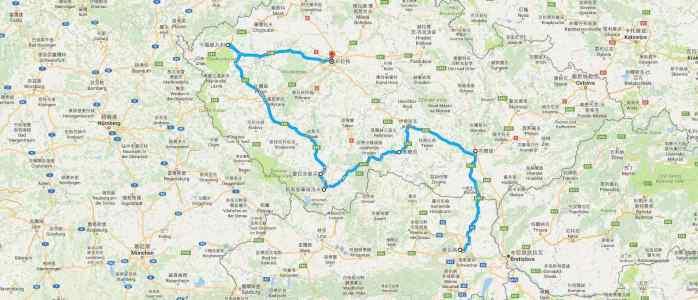 路線圖-奧地利捷克